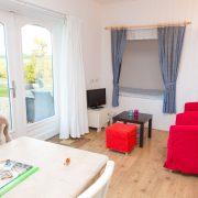 Oppe Klincke appartement Andringa, woonkamer/ bedstee