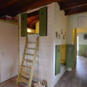 Pipowagen Juffertje in het Groen, slaapkamer met 2 bedstedes