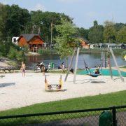 Chalet Zuid Limburg, park met ligweide en speeltuin