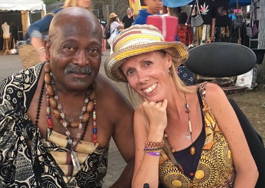 Afrika Festival, Eelke met sjamaan