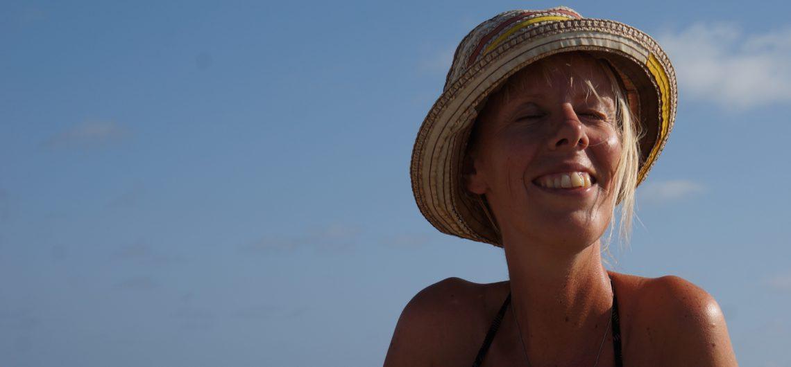 eelke in de zon op Bonaire