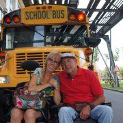 Biestheuvel, schoolbus