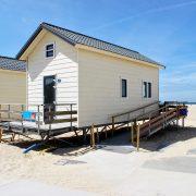 Breezand beachhouses, nieuwe rolstoelopgang huisje