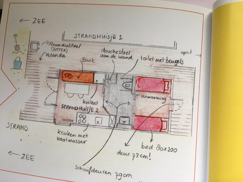 Breezand, plattegrond mindervalide huisje (anno 2012)