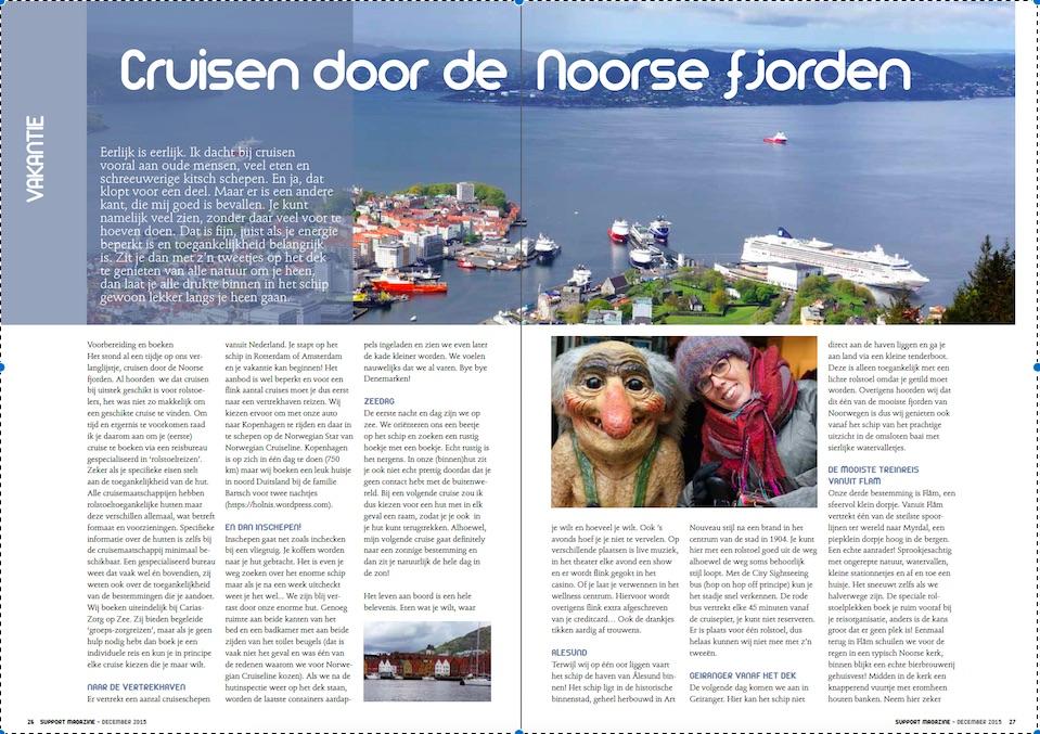 Support Magazine, artikel-Noorwegen (foto)