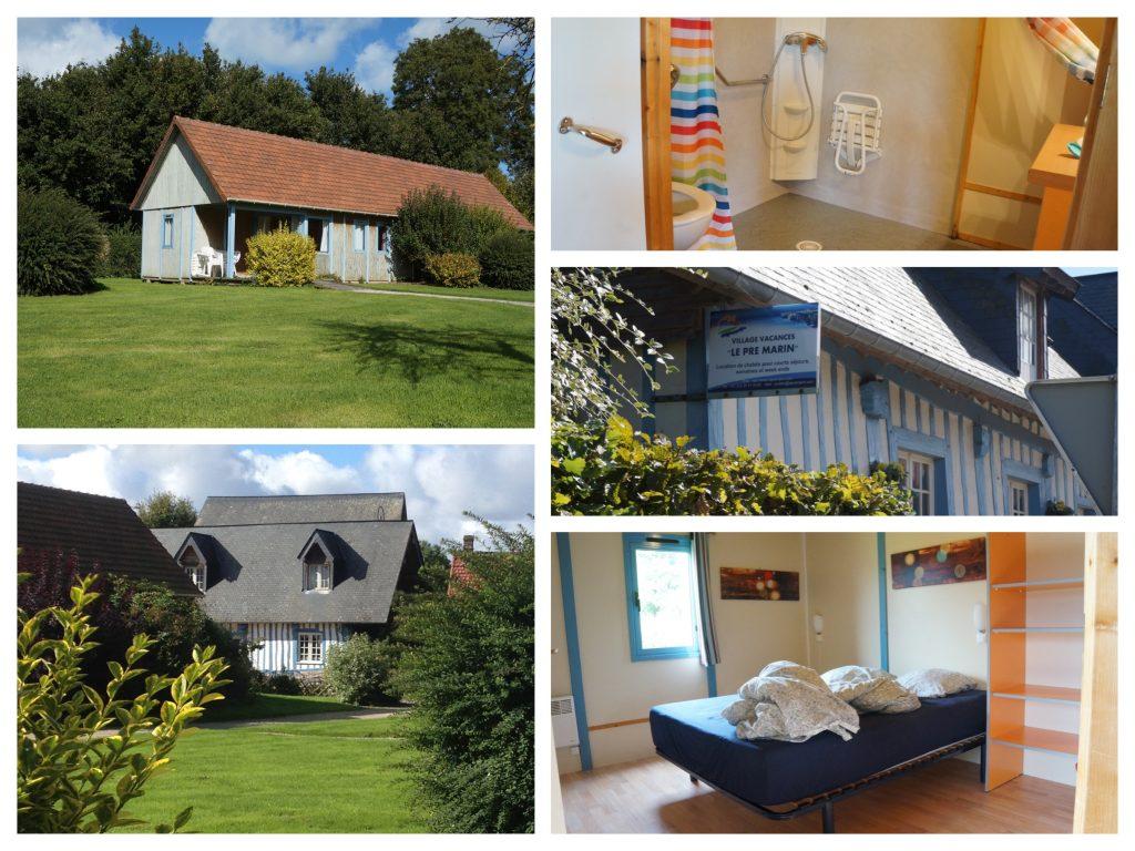 Collage huisje bij Le Pré Marin in Sotteville-sur-mer