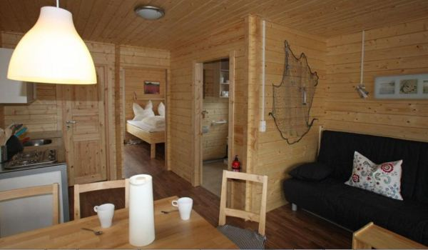 Interieur bungalowboot