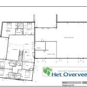 Het Overveen, plattegrond Burght bg