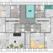 It Sailhûs - plattegrond tweede verdieping