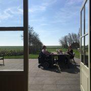 Schipsdune, ontbijten op het terras