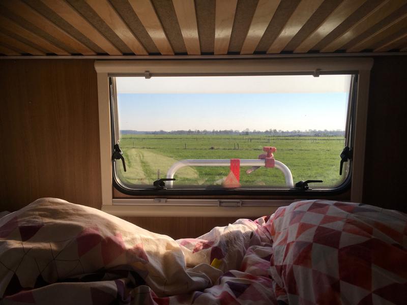 Vechtdal, camperplaats uitzicht