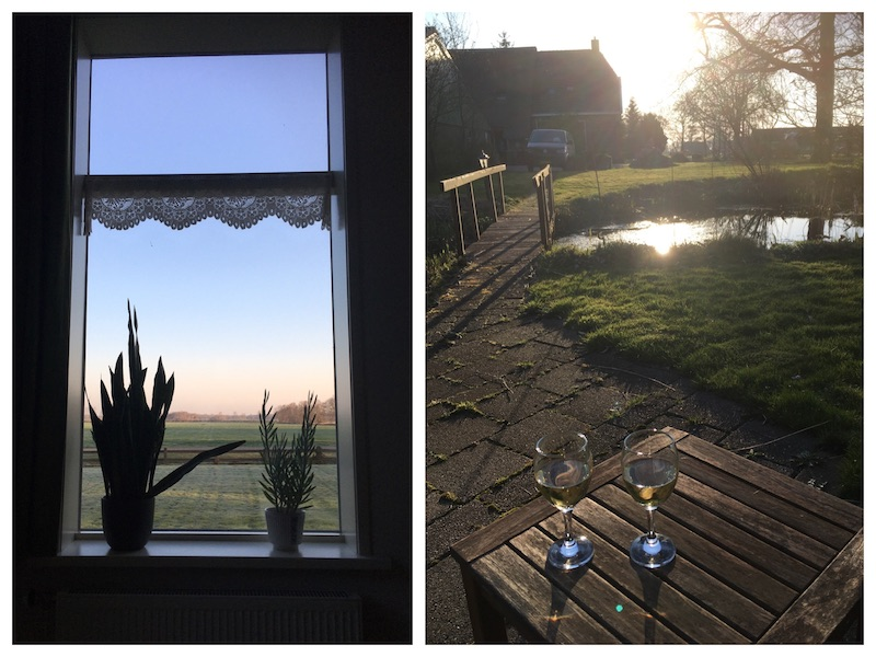Elsenhoeve, raam en vijver
