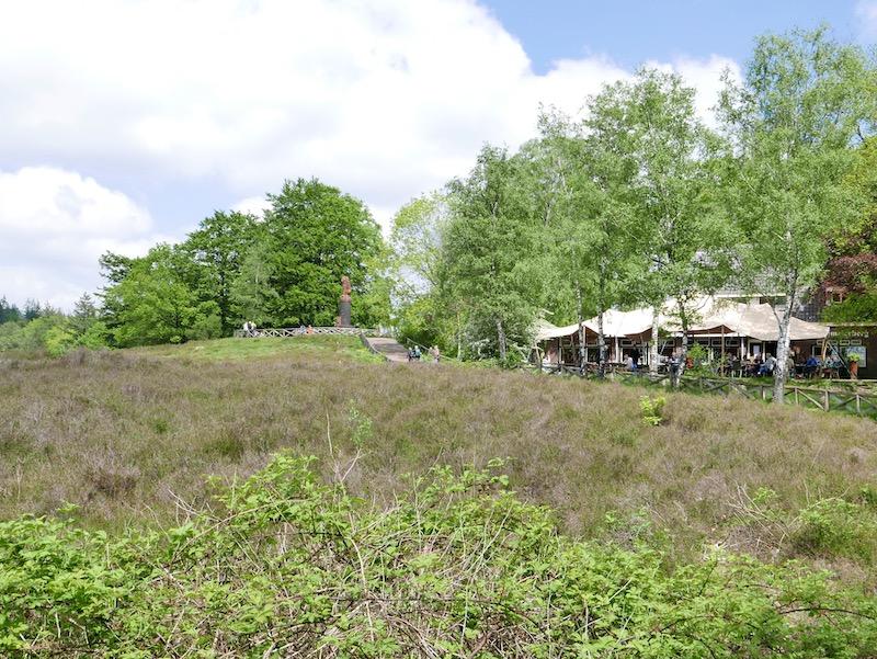 landschapsfoto van theehuis de Lemelerberg